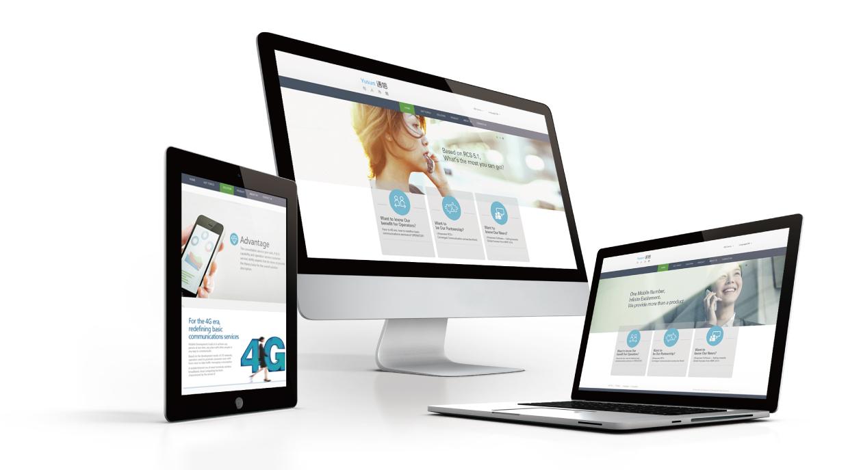 语信手机官方网站设计