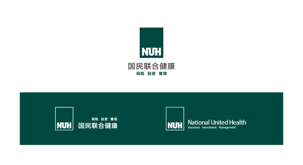 国民联合健康标志logo设计