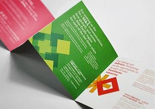 博然思维公司宣传折页及邀请函设计制作